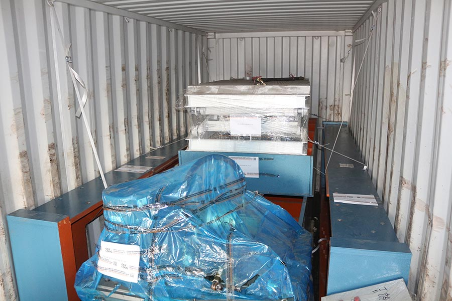 Complete plywood making machine exported to our Indonesia client