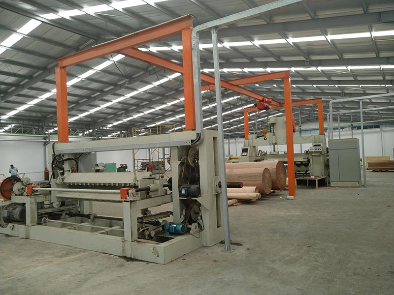 Complete plywood production line established in Surabaya of Indonesia