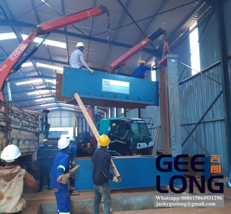 china GEELONG 15 layers plywood press machine