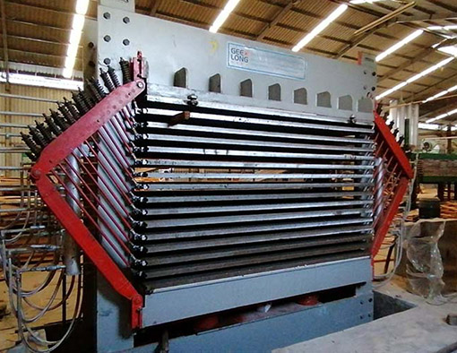 Plywood machine installed in Indonesia