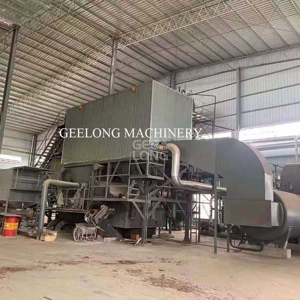 Boiler machine for plywood factory