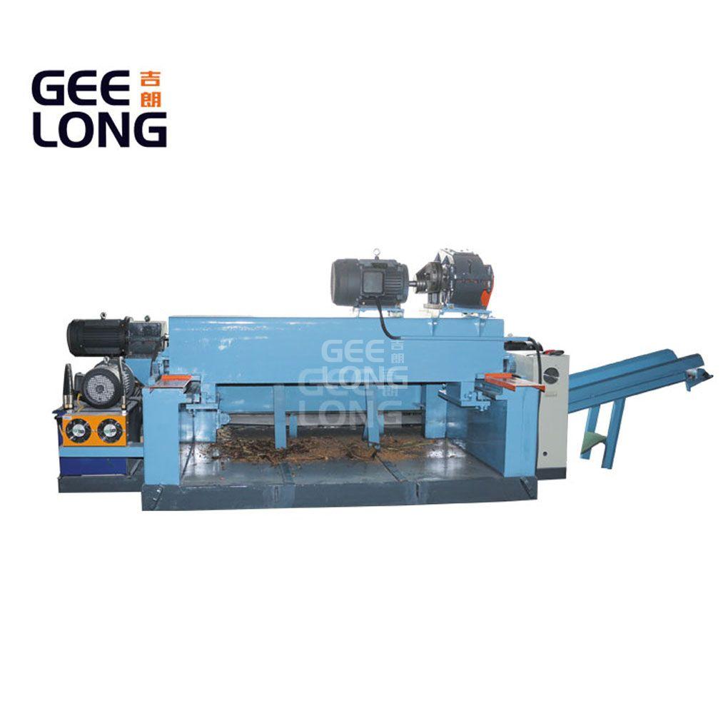 China GEELONG 4ft wood log debarking machine with bark crusher