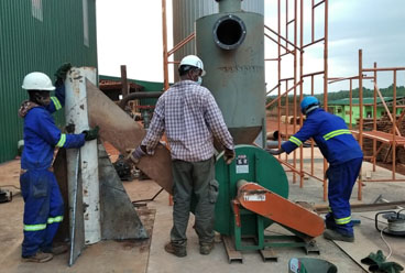 1200000kcal thermal oil boiler at Africa