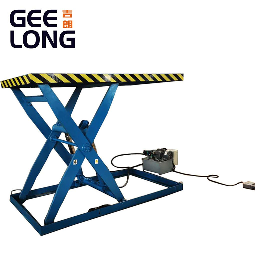 3T plywood hydraulic lifting table machine no need any ground foundation