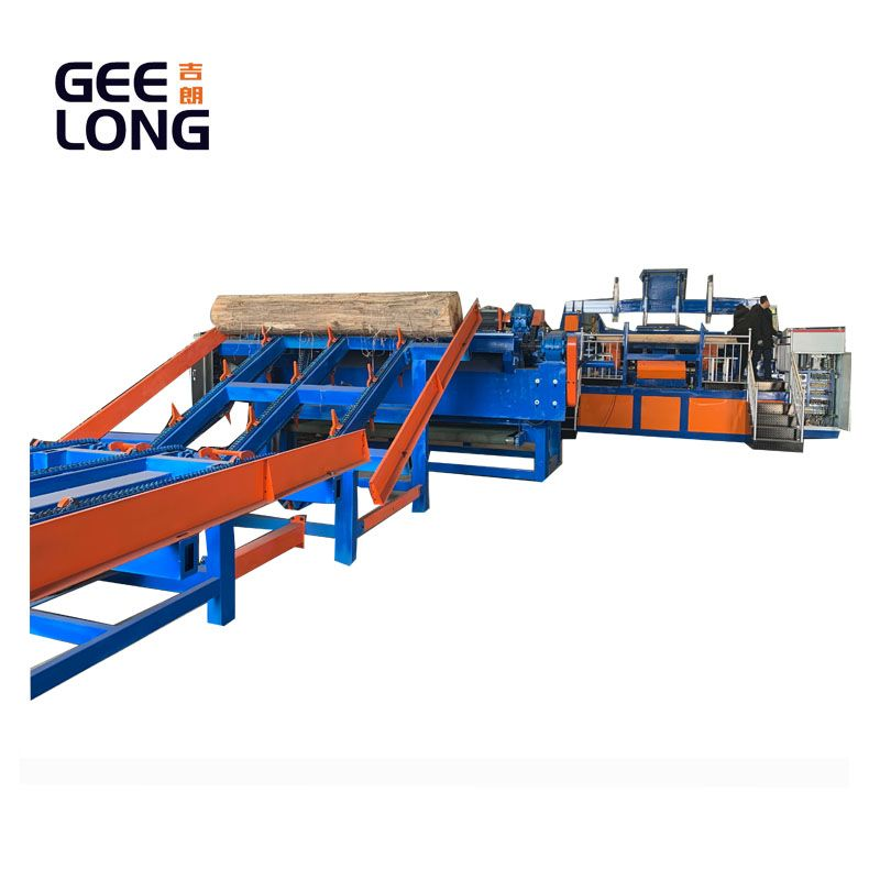 china GEELONG automatic birch veneer peeling machine line