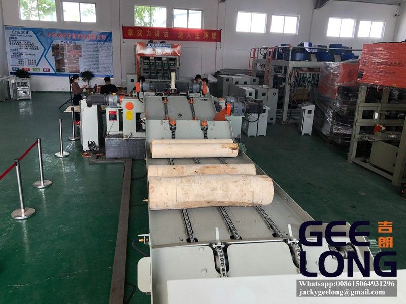 PLC control full automatic veneer peeling machine