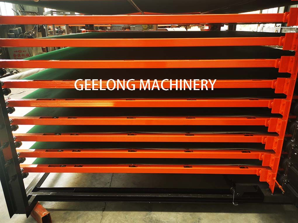 Automatic belt conveyor for melamine hot press machine