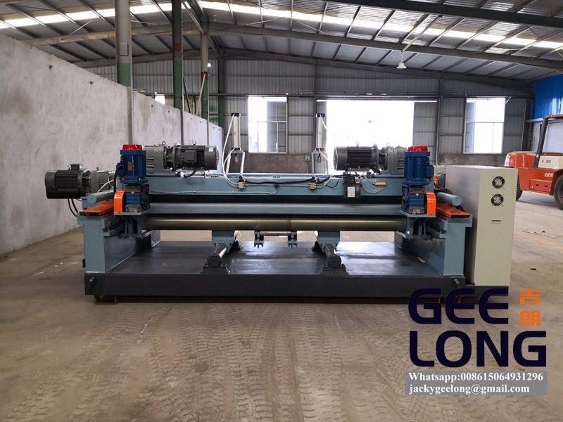 8ft spindleless veneer lathe machine with cutter